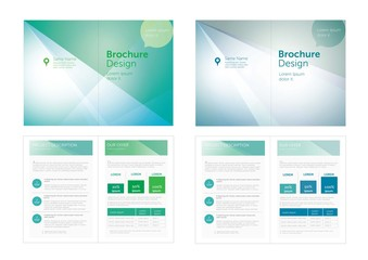 Vector_Blue,Green Brochure Design.