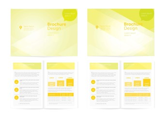 Vector Orange Brochure Design.