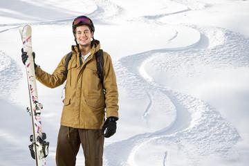 Off piste skier
