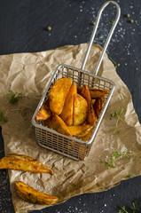 Frittierte kartoffel