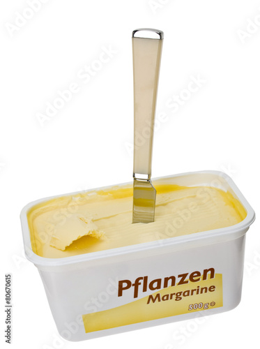 Staande foto Zuivelproducten Pflanzenmargarine
