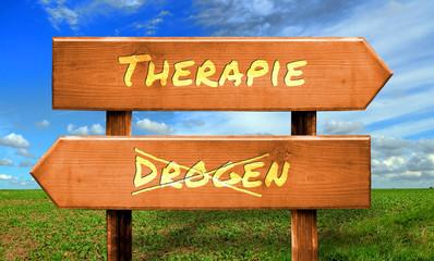 Strassenschild 33 - Drogentherapie