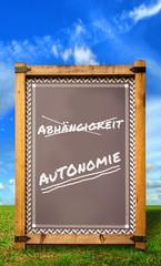 Strassenschild 34 - Autonomie