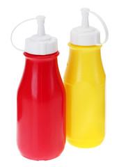 Senf- und Ketchupflasche