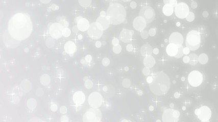 Christmas silver background with snowflakes falling snow holiday