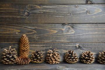 Weihnachtskarte - Tannenzapfen