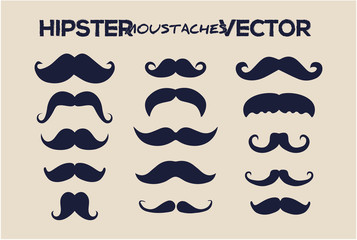 Fashion hipster moustaches vector style