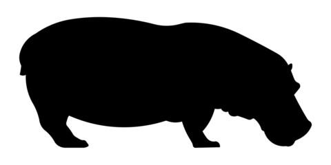 Nilpferd Silhouette