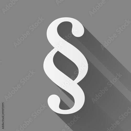 Zdjęcia na płótnie, fototapety, obrazy : Law icon with a long shadow on gray background