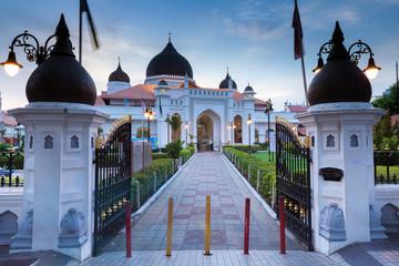Kapitan Keling Mosque after sunset, Georgetown, Penang
