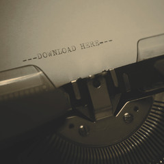 old typewriter with text download here