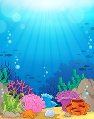 Ocean underwater theme background 3