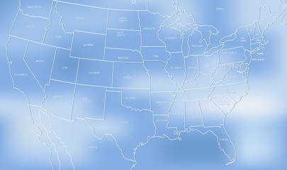 Creative map of the United States of America.