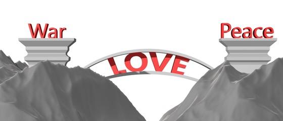 Liefde dicht de kloof tussen vrede en oorlog