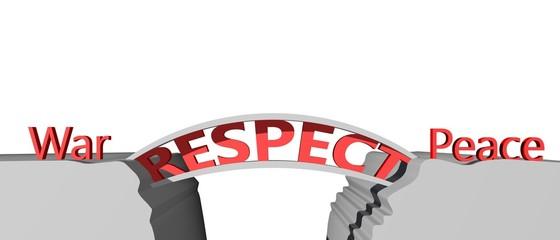 Respect vorm de brug tussen vrede en oorlog