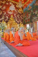 The Ordination Ceremony of a Monk at Wat Bang Pai in Nonthaburi