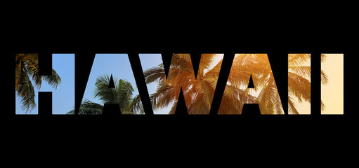 """Background with word """"Hawaii"""""""