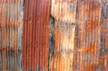 Corrugated metal wall or roof image