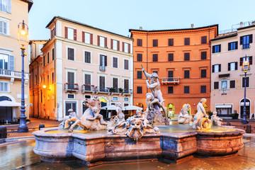 Fountain Of Neptune. Rome, Italy