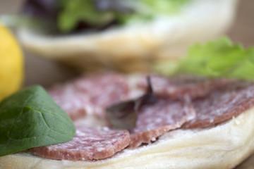 sandwich at the milan salami