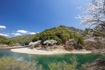 春の古座川峡