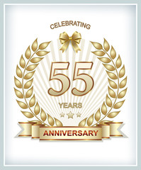 Anniversary postcard for 55 years