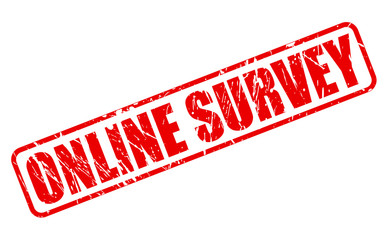 Online survey red stamp text