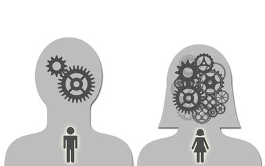 Man and woman brain