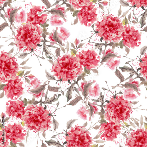 Watercolor flowers - 80681094
