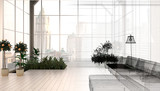 Appartamento, attico con serra, rendering 3d, interior - 80681206