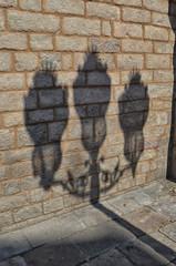 Shadow of lamp post