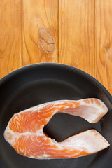 Trout fillets in the pan