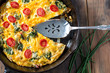 Swiss Chard and Tomato Frittata breakfast - 80683231