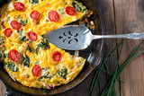 Swiss Chard and Tomato Frittata breakfast