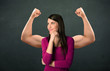 strong and muscled arms concept