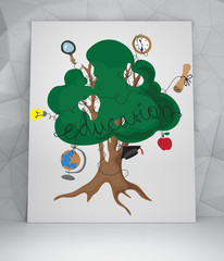 education tree with icons