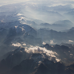 Mountains bird's-eye view
