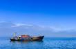 Altes Fischeischiff in der Langune von Walvis Bay - 80685443