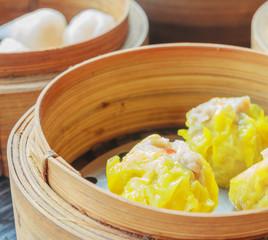 Steamed shrimp dumplings dim sum