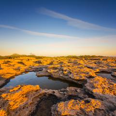 stony field scene