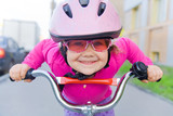Fototapety girl on  bicycle