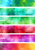 Fototapety abstract geometric banner background, vector set