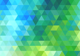 abstract green blue triangle background, vector