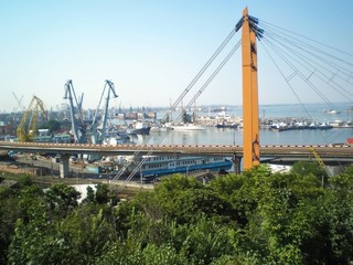 view of the port of Odessa