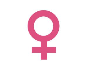 Female symbol in black