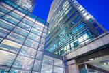 Office building background in Canary Wharf, London
