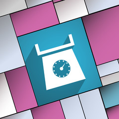 kitchen scales icon symbol Flat modern web design with long shad