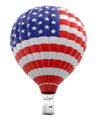 Hot Air Balloon with USA Flag