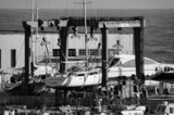 Italy; 29 march 2015, yachts being refurbished - EDITORIAL poster