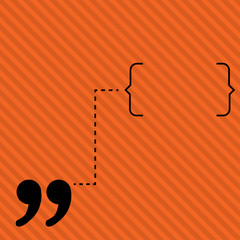 Orange line abstract vector background illustration quote